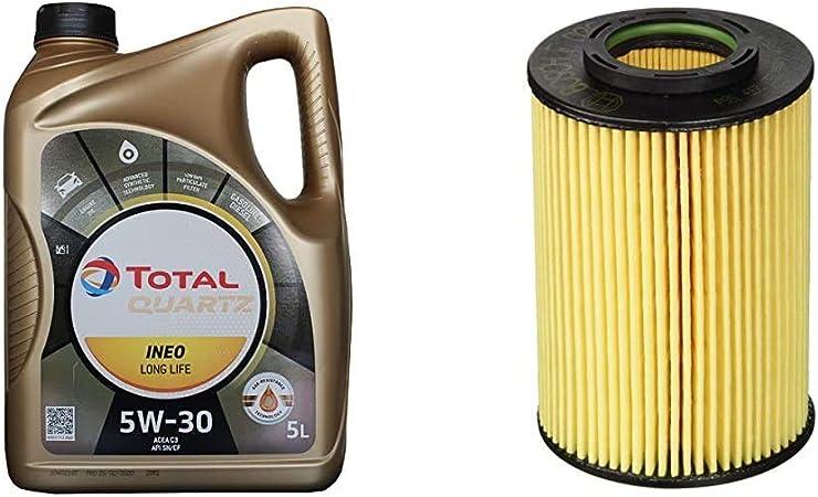 Total 181712 Quartz Ineo Longlife 5w 30 Motorenöl 5 L Bosch F026407061 Ölfilter Auto
