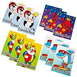 Kicko Mini Coloring Book - 12 Pieces of Assorted Activity Sheets - 6 Pages Each - Perfect for Pastimes, Educational, School Supplies, Gifts, Sensory Tools, Party Favor - for Kids