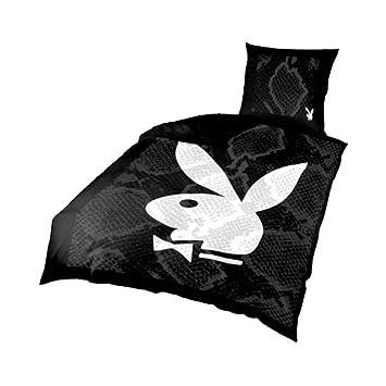 Playboy Bettwäsche Mit Playboy Bunny In Schwarz Weiß Microfaser