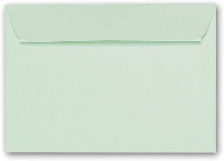 ARTOZ 50x Briefumschl/äge DIN C6 Mint I Mit Geschenkbox I 16,2 x 11,4 cm Kuvert ohne Fenster I Umschl/äge selbstklebend I Serie Artoz 1001