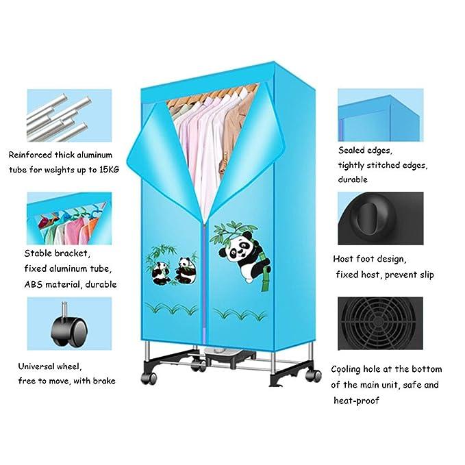 Clothes dryer Secador de Aire Caliente Antibacteriano Mudo del hogar de la máquina del secador 900w, secador de Ropa del bebé del secador de Ropa Doble: ...