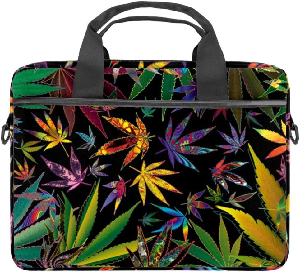 LORVIES Marihuana - Bolso bandolera para portátil de 14 a 15,4 pulgadas