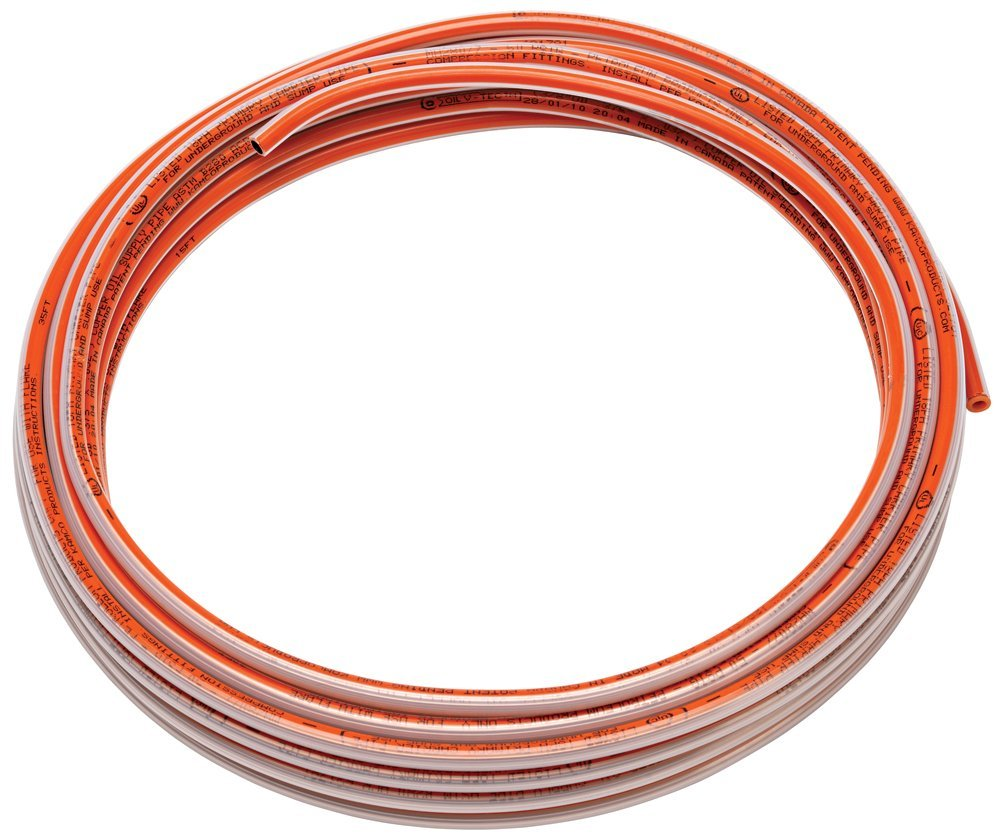 Homewerks CPG06050 3/8''/50' Plastic Coated Copper Coil, Orange