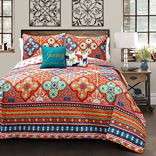 Lush Decor Lush Décor Belize 5 Piece Quilt Set, Full/Queen,