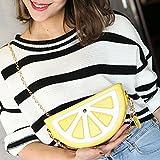 Cute Women Girls Fruit Shoulder Bag Tote Purse Messenger Crossbody Bag Handbag Lemon