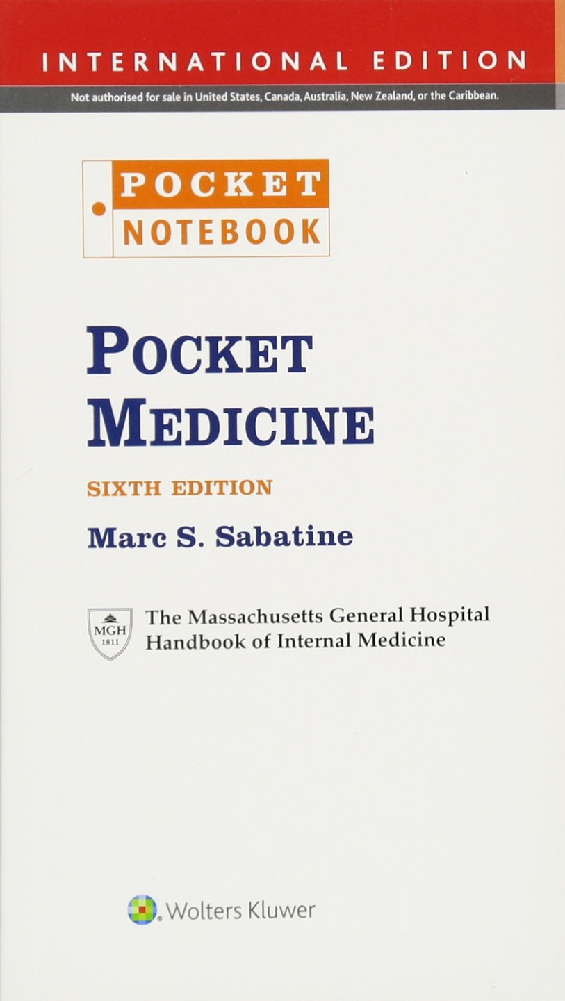 Pocket Medicine: The Massachusetts General Hospital Handbook of Internal Medicine;Pocket Notebook