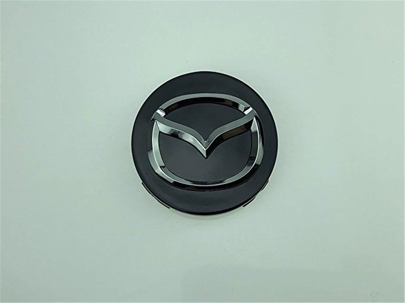 yongyong218 4 tapacubos centrales para Llantas DE 56 mm, Mazda 2, 3, 6, CX-3, CX-5, MX-5, Color Negro Cromado: Amazon.es: Coche y moto