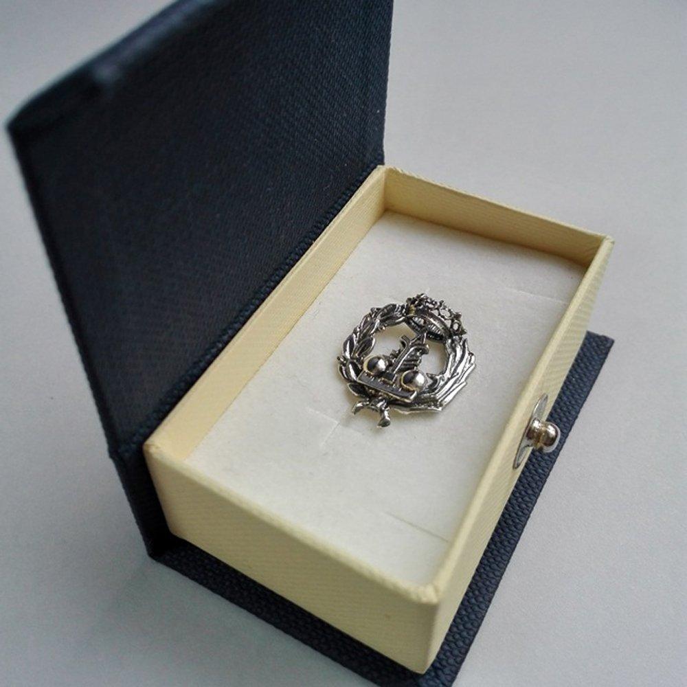 Alylosilver Insignia Profesional de Fisica Pin para Hombre Mujer en Plata 925 con Caja para Regalo.