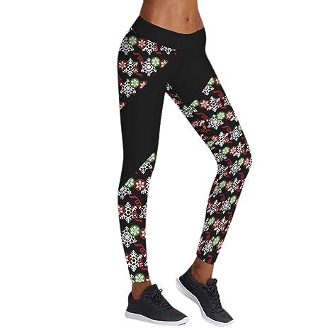 5bd2a15c9be0a Bold Manner Legging de Noël Femme Caleçon Stretch Motif 3D Imprimée Yoga  Jogging  Amazon.fr  Vêtements et accessoires