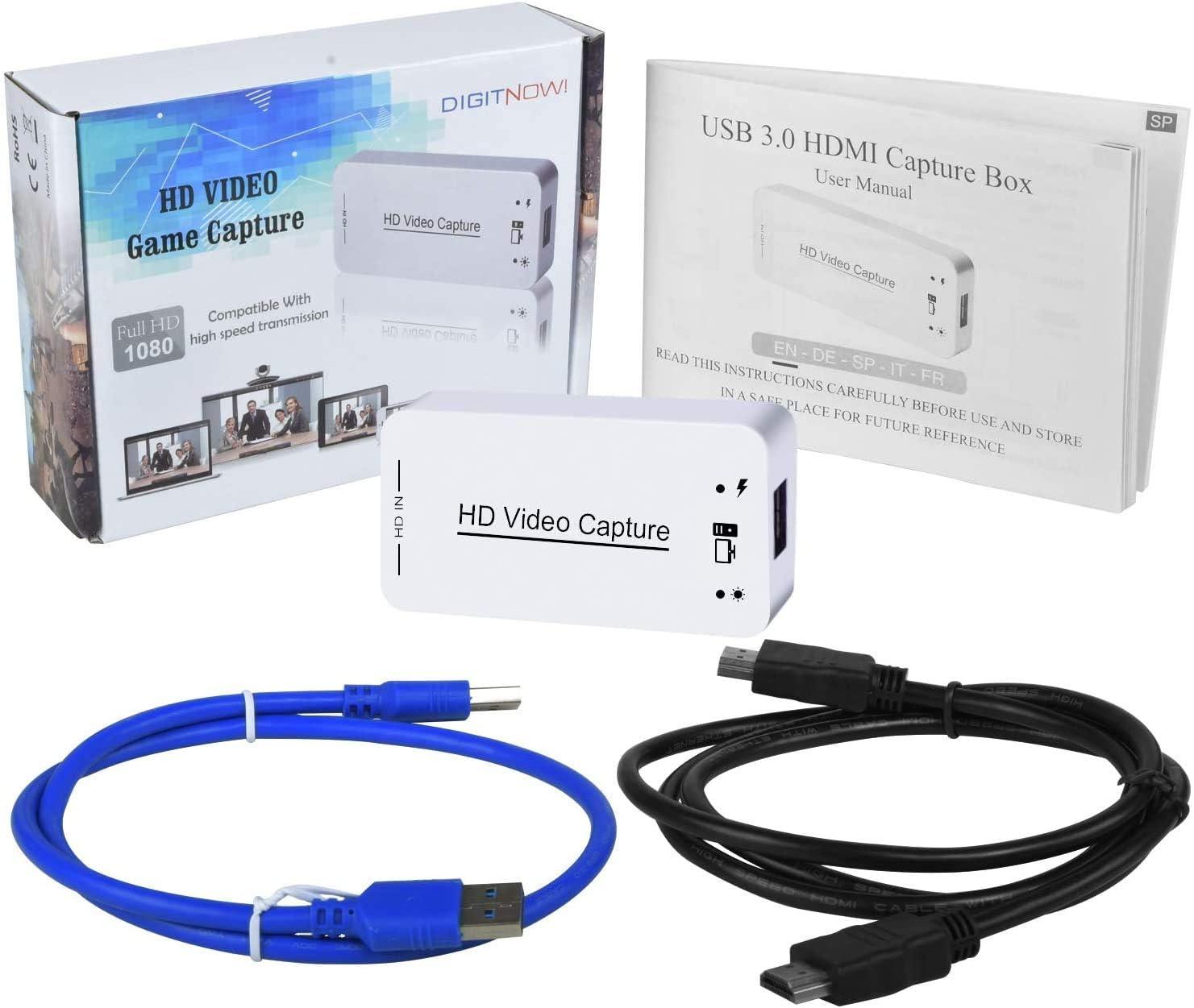 DIGITNOW Capturadora de vdeo HDMI USB 3.0 y Dispositivo de ...