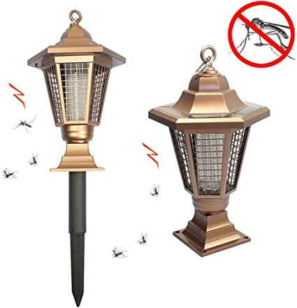 Pro Solar Insect Pest Bug Mosquito Killer Zapper Lamp Outdoor Garden Lawn Light