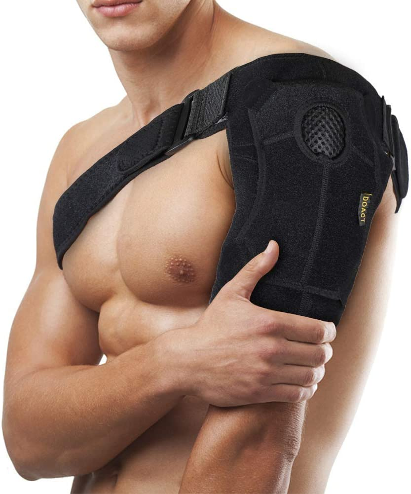 Shoulder Brace Support for Rotator Cuff Injury Prevention and Recovery,Unisex,Can be Worn on Left or Right Shoulder (Upgrade L (Chest34-52in))