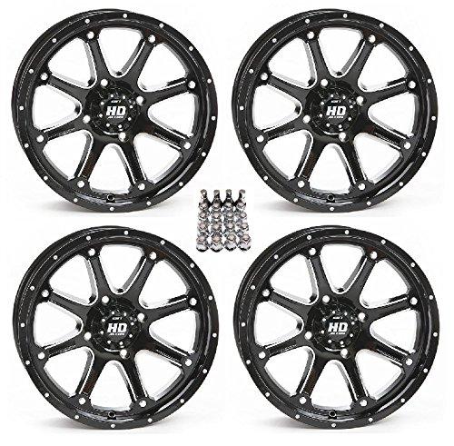 (STI HD4 ATV Wheels/Rims Black 14