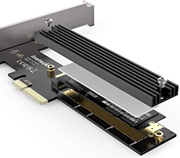 Type 2280 2260 NVMe or AHCI 2242,2230 m.2 to PCIe 3.0 x 4 Adapter Card,M.2 Key M Driver,with Heatsink Support M.2 PCIe
