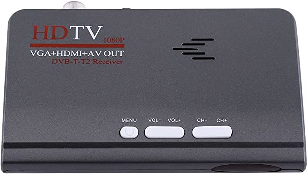 Socobeta Receptor de TV Digital 1080P HDMI DVB-T2 Resistente al Desgaste TV Box Sintonizador de TV con Control Remoto con Puerto VGA: Amazon.es: Electrónica