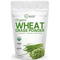 Sustainably US Grown, Organic Wheat Grass Powder, 8 Ounce (75 Serving), Rich in...