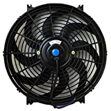 Upgr8 Universal High Performance 12V Slim Electric Cooling Radiator Fan With Fan Mounting