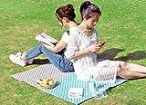 Outdoor Portable Spring Camping mat Wild Camp Outdoor Beach Waterproof mat Lawn Folding Picnic mat (Blue, 6090cm)
