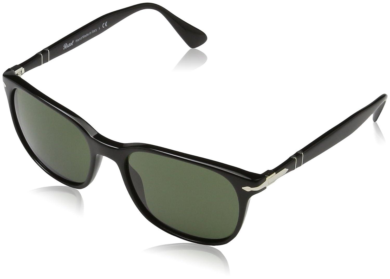 7ed04cbab0 Persol Men s PO3164S Sunglasses Black Green 56mm at Amazon Men s Clothing  store