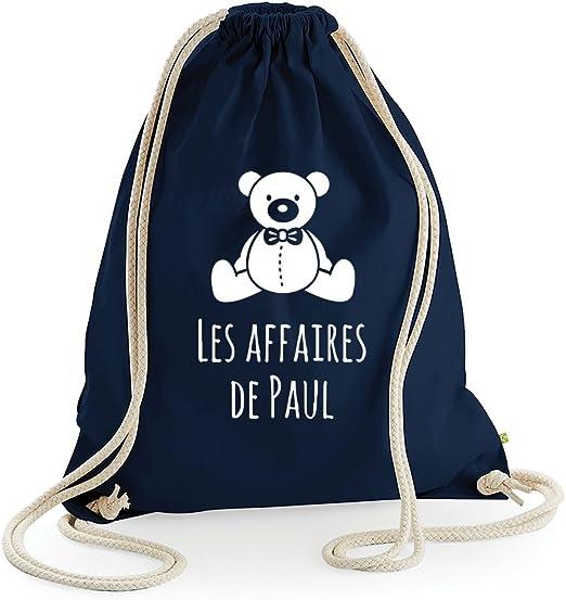 Amikado mochila oso personalizado 100% algodón Bio azul marino ...