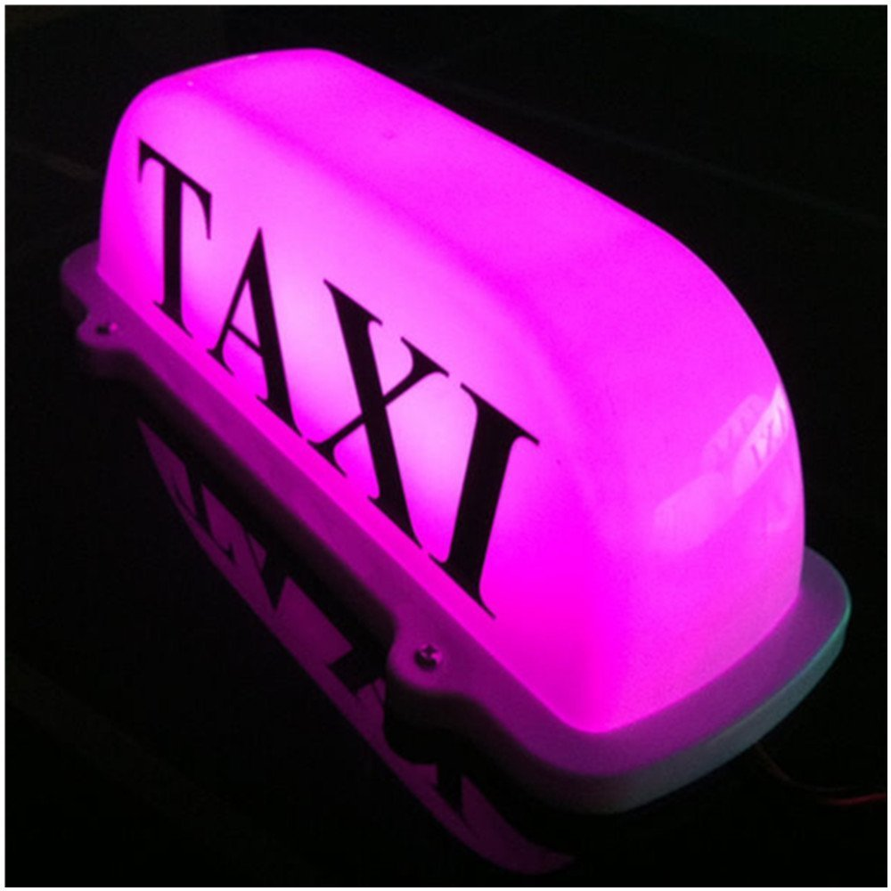 Taxi Top Light/New LED Roof Taxi Sign 12V with Magnetic Base, purple optiona Automotive waterproof dome light