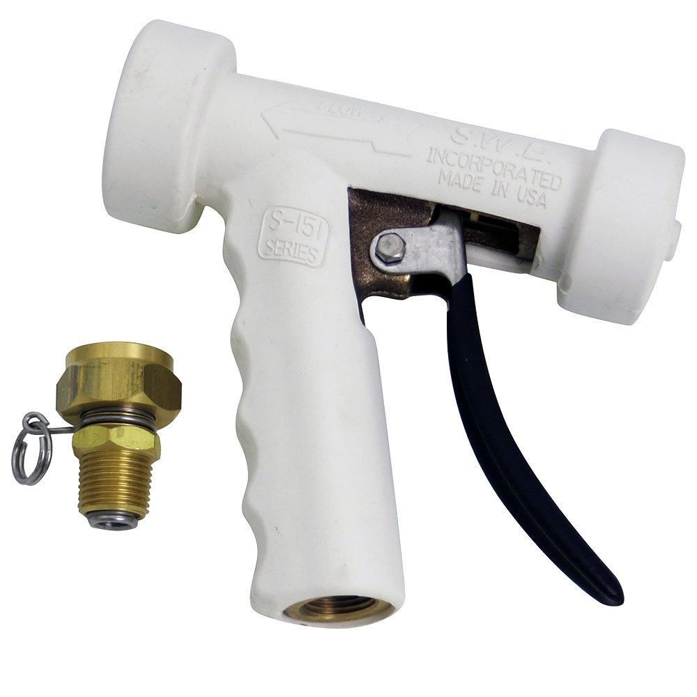 UltraSource Hose Spray Nozzle with Swivel GHT, Standard Design, Bronze/White