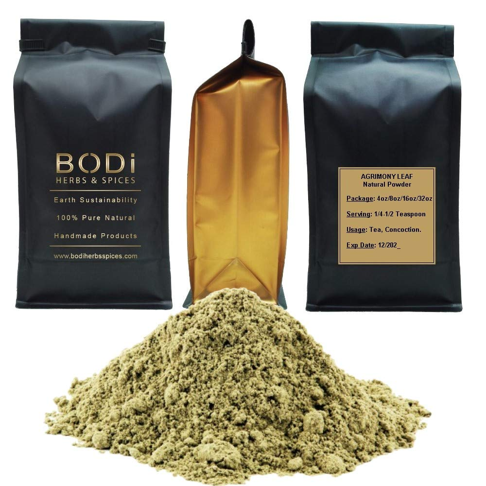 BODi : Agrimony Leaf - 100% Pure Natural Powder (4 8 16 32 oz) Diuretic Digestion Inflammation (32 oz) by BODi Herbs & Spice