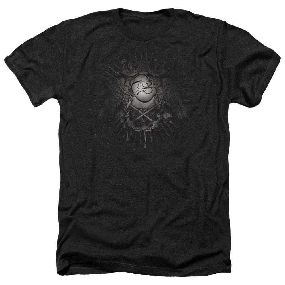 Popeye Sailor Heraldry S Heather Shirt Black Sm