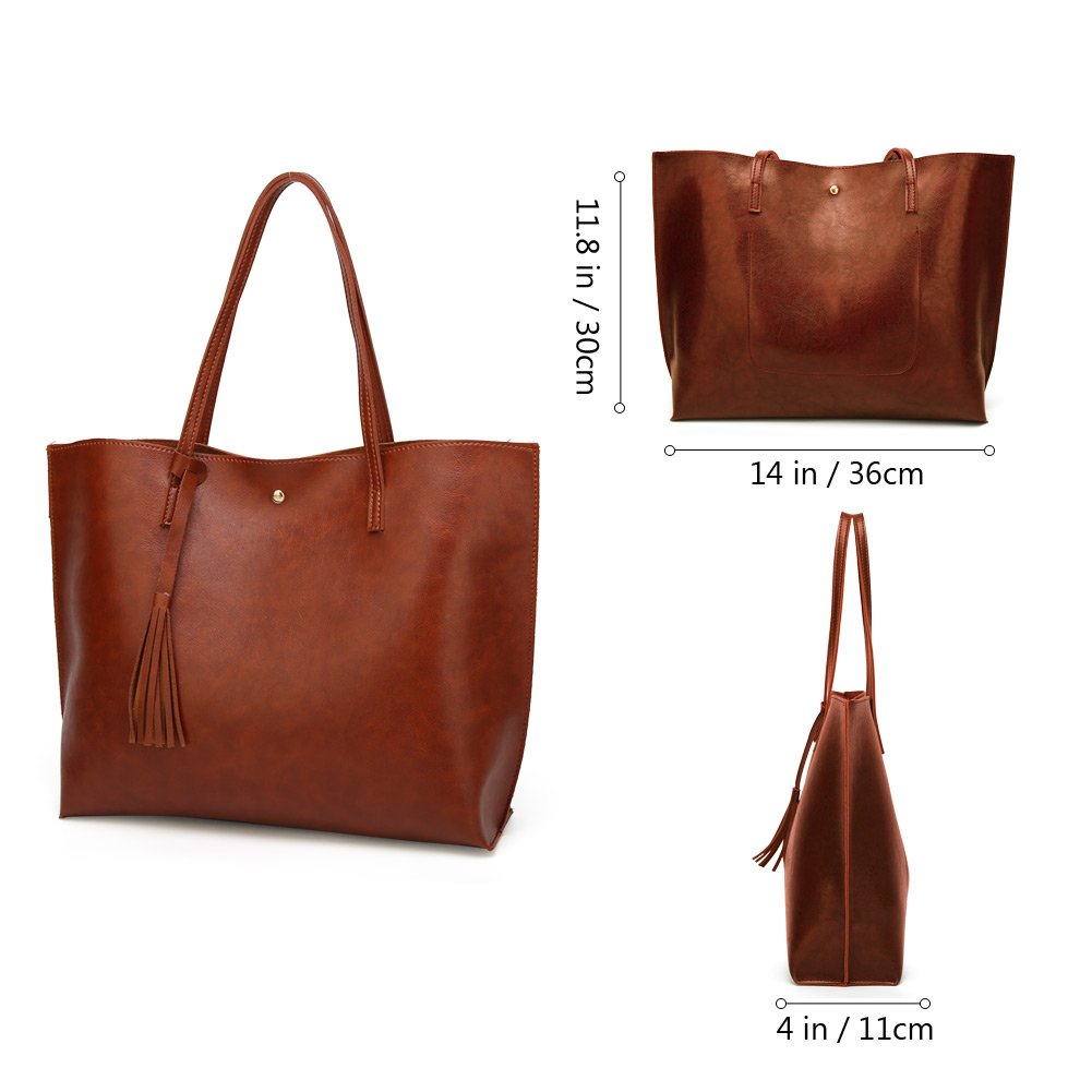 Forestfish Leather Women Tote Bag Handbags Satchel Bags for Work Travel by Forestfish (Image #3)