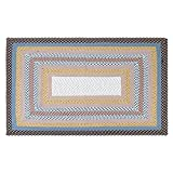 LOCHAS Braided Area Rug Hand Woven Reversible Solid Carpet for Living Room Bedroom Dining Room Rugs, 3' x 4.9'