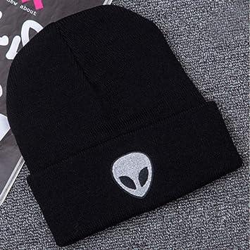 FACQ Sombrero Bordado Alien Hat Invierno Hombres Y Mujeres ...