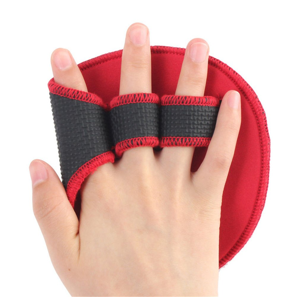 Weight Lifting Hand Bar Grip Pad Wrist Support Gym Training Wrap Gloves