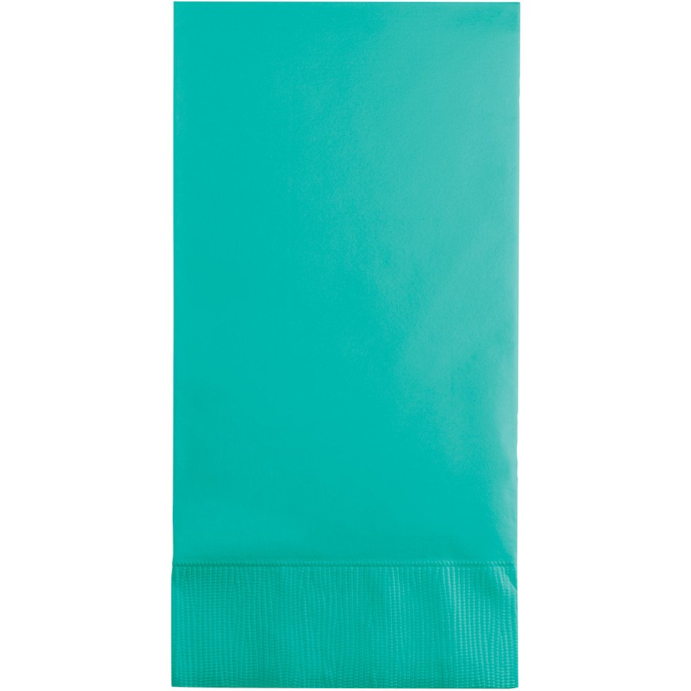 Creative Converting 324792 Touch of Color 192 Count 3-Ply Guest Paper Napkins, Teal Lagoon