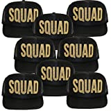 Classy Bride Squad Trucker Hat by Black with Glitter Gold (8)