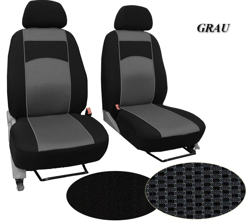 Sitzbezüge Kunstleder Rote Naht passend für Nissan Primastar Traffic Vivaro Opel