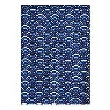 BAIHT HOME Cotton Linen Japanese Noren Doorway Curtain Tapestry Ukiyoe Hokusai Wave Door Decoration Room Divider 31.5'' Width x 47.2'' Long