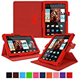 roocase Kindle Fire HDX 8.9 Tablet (2014) Case, new Kindle Fire HDX 8.9 Dual View Folio Case Cover with Multi-Viewing Stand for All-New 2014 Fire HDX 8.9 Tablet (4th Generation), Red
