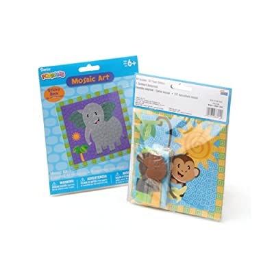 Darice Monkey and Elephant Foamies(r) Mosaic Art Combo Pack: Toys & Games