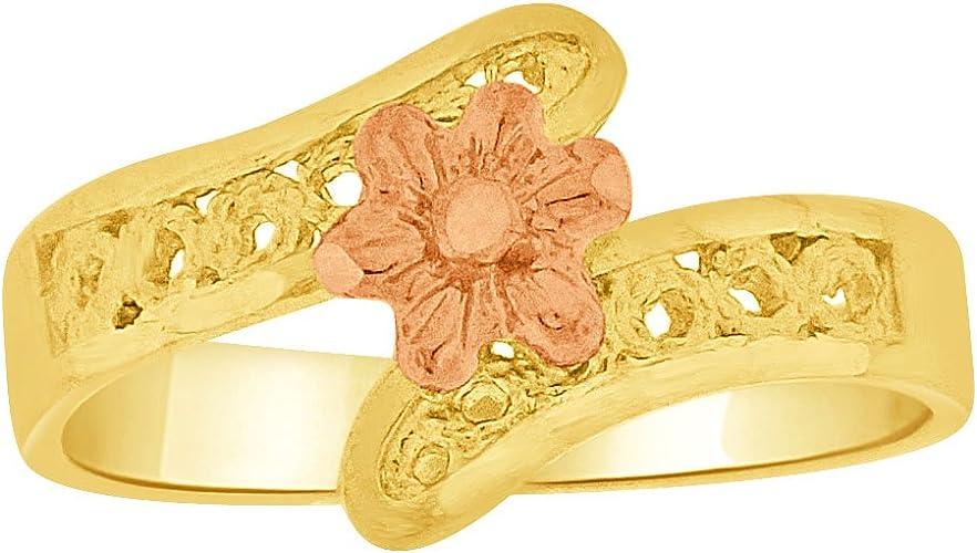 14k Yellow Gold Small Baby Child Kid Ring Filigree Design