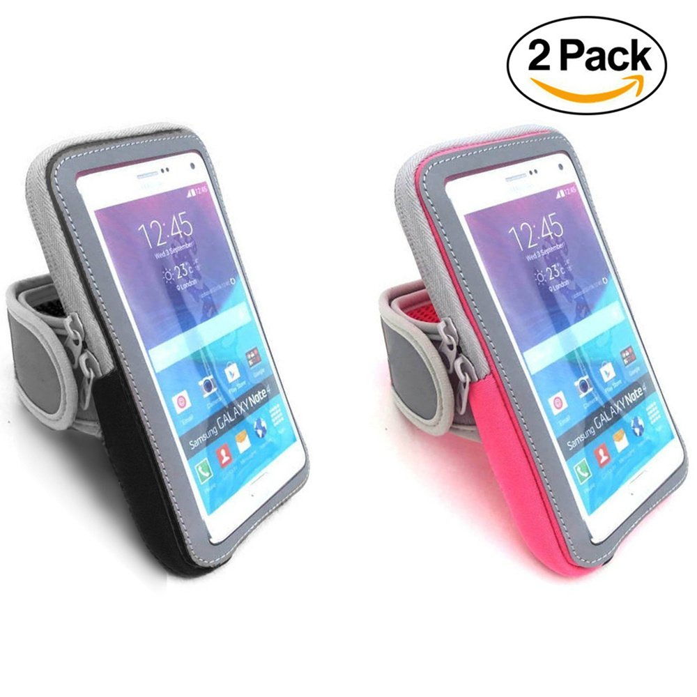 Firstbuy Multifunctional Outdoor Sports Armband Sweatproof Running Armband GYM Fitness Workout , Cell Phone Holder Case Arm Band Strap for iPhone X 8 Plus 7 Samsung Galaxy S9 S8 S7 S6 LG Google HTC