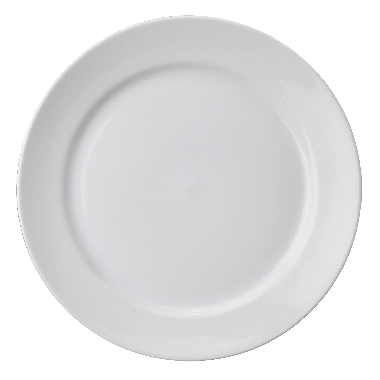 HIC Brands that Cook 6-Inch Caf White Porcelain Bread and Butter Plate 78003
