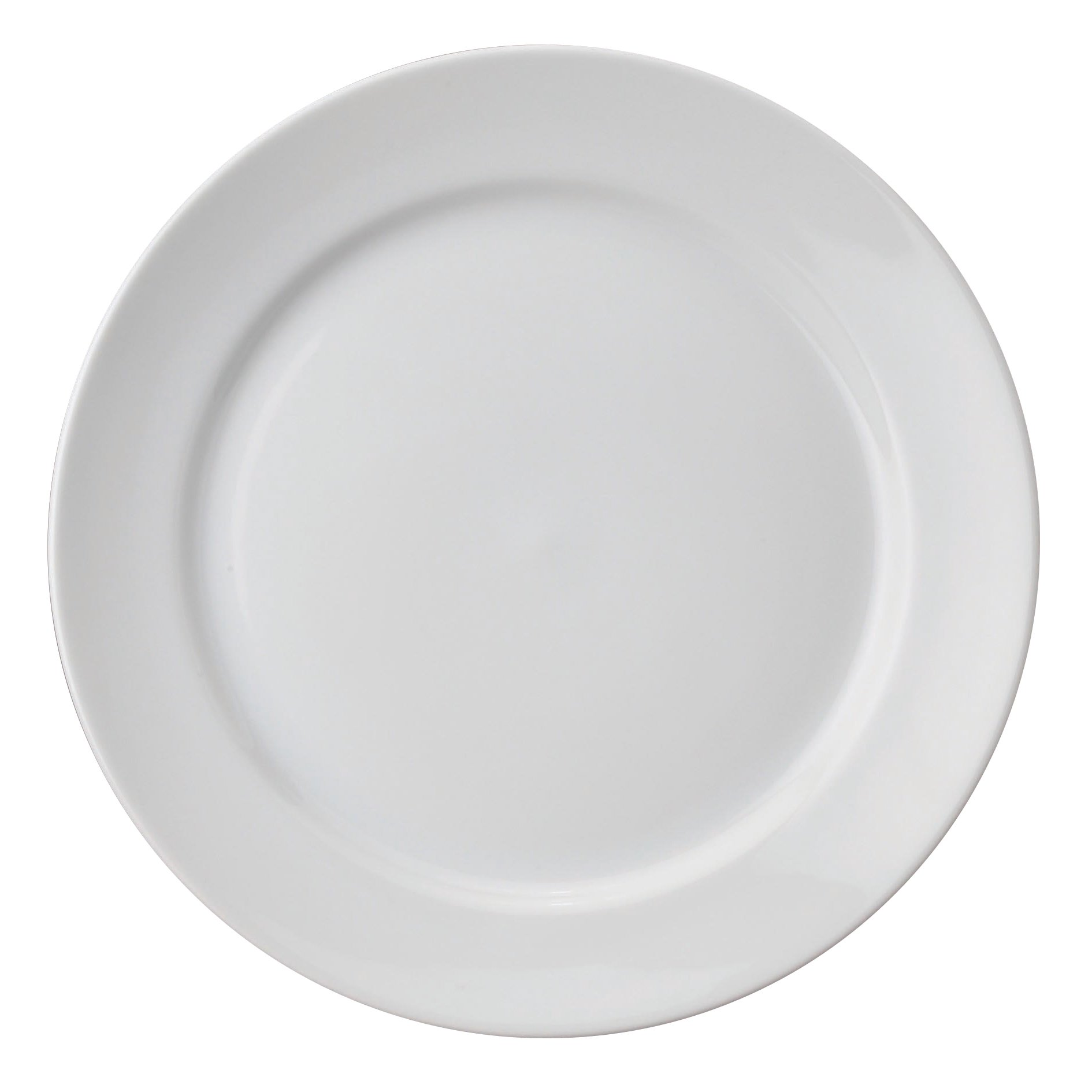 HIC Harold Import Co. 78230 Porcelain 12'' Buffet Plate White