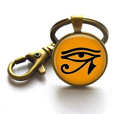 Egipcio Ojo de Ra llavero clave anillos - Egipto Religión ...