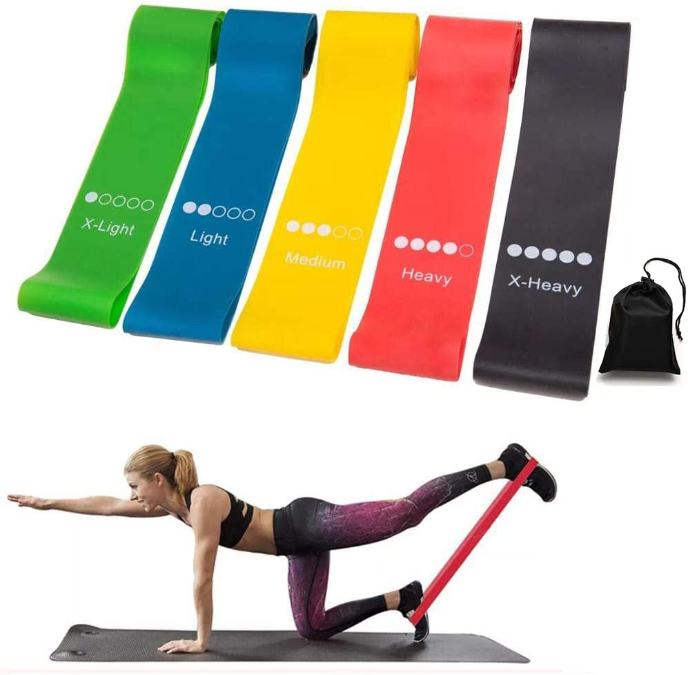 Resistance Elastic Yellow Band Fitness Indooor Yoga Gym Body Training