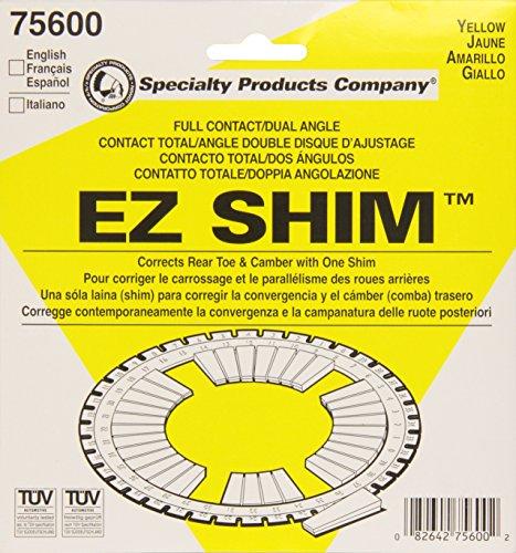Spc performance 75600 dual angle shim yellow
