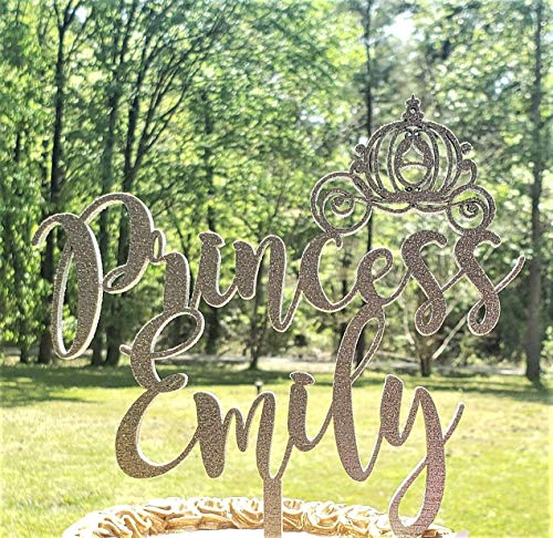 rthday cake topper, Princess party, Customized cake topper ()