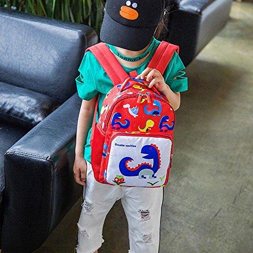 bambino zainetto ragazzo schoolbag bambine per a animali Ragazze BYSTE zainetto Simpatico Rosso Bambini borsa Borse Mini dinosauro Zaino Scuola elementare Nuovo scuola della qY0wHfZ