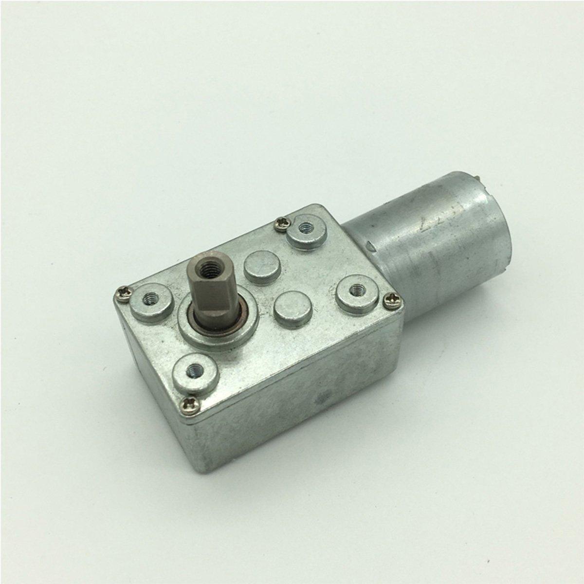 Bringsmart 12V DC Gear Motor 2RPM and Reducer Motor Low Speed Ratio 1: 3000 Self-lock