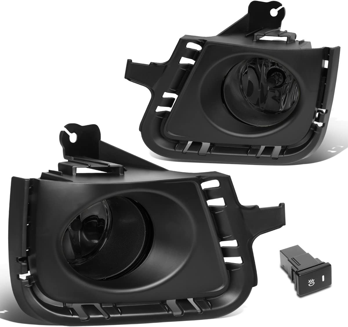 DNA MOTORING FL-ZTL-243-SM Fog Light+Switch Silver Housing//Smoked Lens for 10-12 Prius