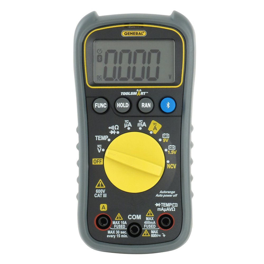 General Tools Ts04 Toolsmart Bluetooth Connected Digital Multimeter Circuit Breaker Finder Gfci Outlet Tester Ncv Detector Auto Ranging With Cat Iii 600v Safety Rated